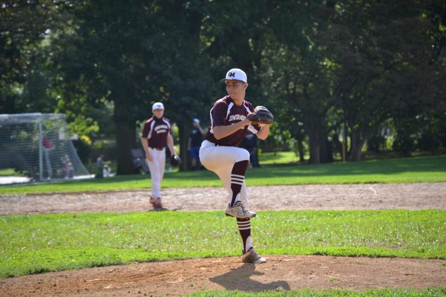 Blum, a pitcher on the LM baseball team, plans on continuing his athletic career at the collegiete level, but is unsure where that will be.
