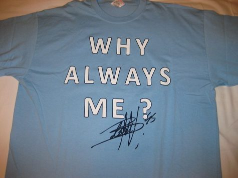 """Mario Balotelli, an Italian who has played for English teams, dons a """"Why Always Me?"""" undershirt for every game, perhaps in part as a protest against the racial injustices he and others have had to overcome throughout their careers.   Photo courtesy of Wiki Commons"""