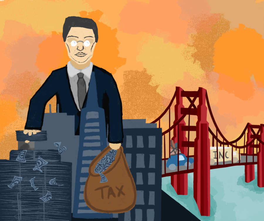 The current policy initiatives to deprive CEOs of their higher compensation is veiling a more ominous repercussion: the flight of companies out of the cities where these policies are enacted. | Graphic by