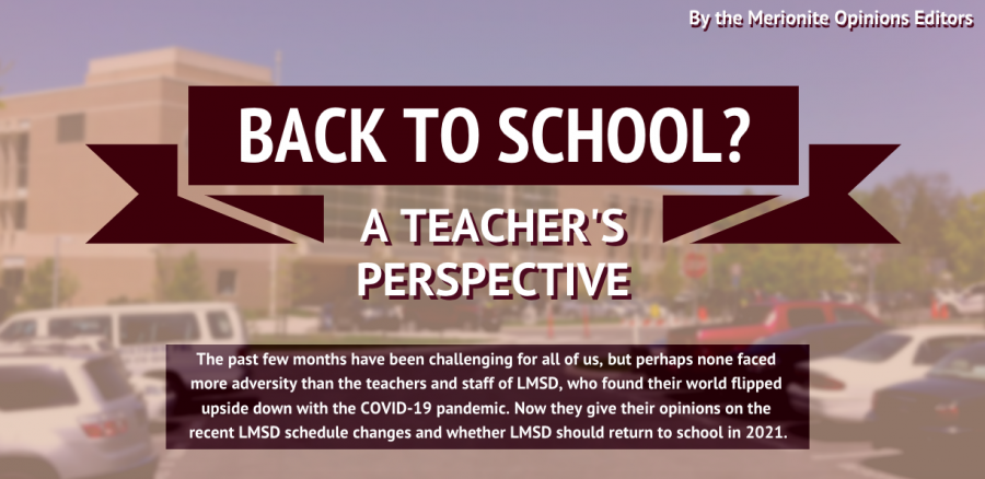 Back to School? A Teachers Perspective