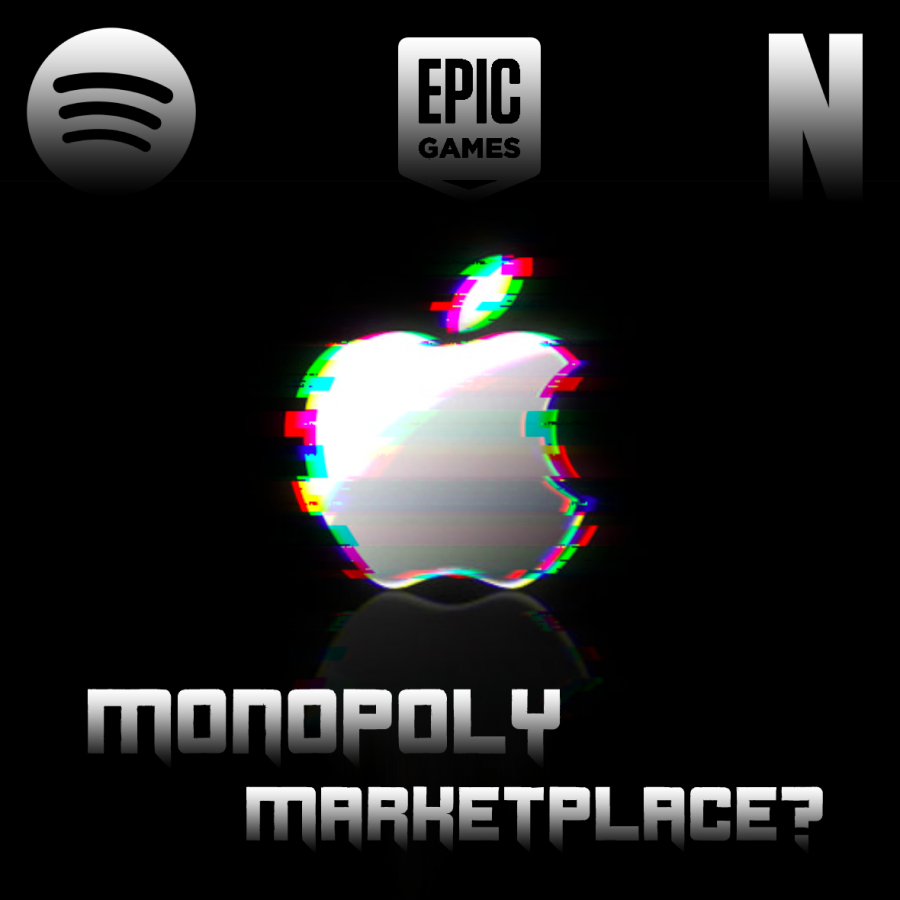Monopoly or fair market? Apple's App Store seems to fit into both, albeit against the backdrop of outrage from other companies in the industry. | Graphic by