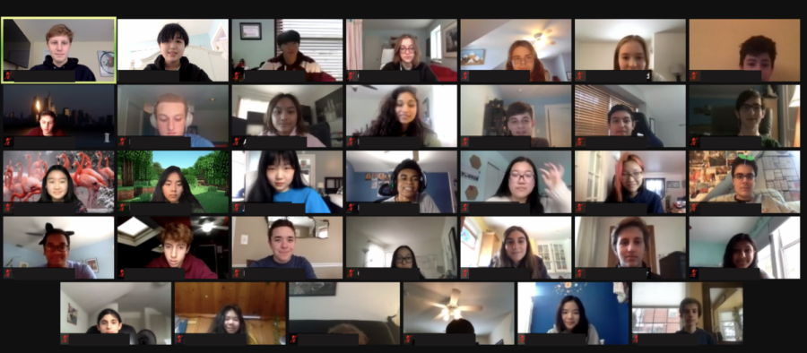 TSA meets on Zoom to prepare for the State Conference. Much has changed due to the virtual format, so everyone had to be informed and ready. | Photo courtesy of Abigail Chang '22