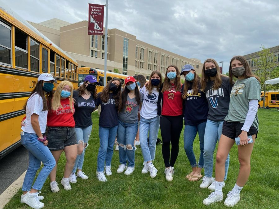 After an especially tough college admissions season, seniors were finally able to celebrate their commitments after Decision Day.   Photo by Aiko Palaypayon '23/Staff