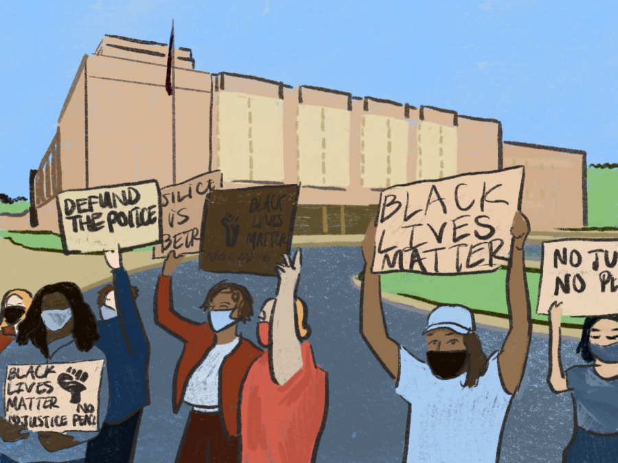 Students have been a leading voice in calls for racial justice. | Graphic by