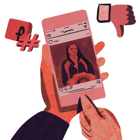 Brandi Levy posted a snapchat message the school considered inappropriate. | Graphic by Emmi Wu
