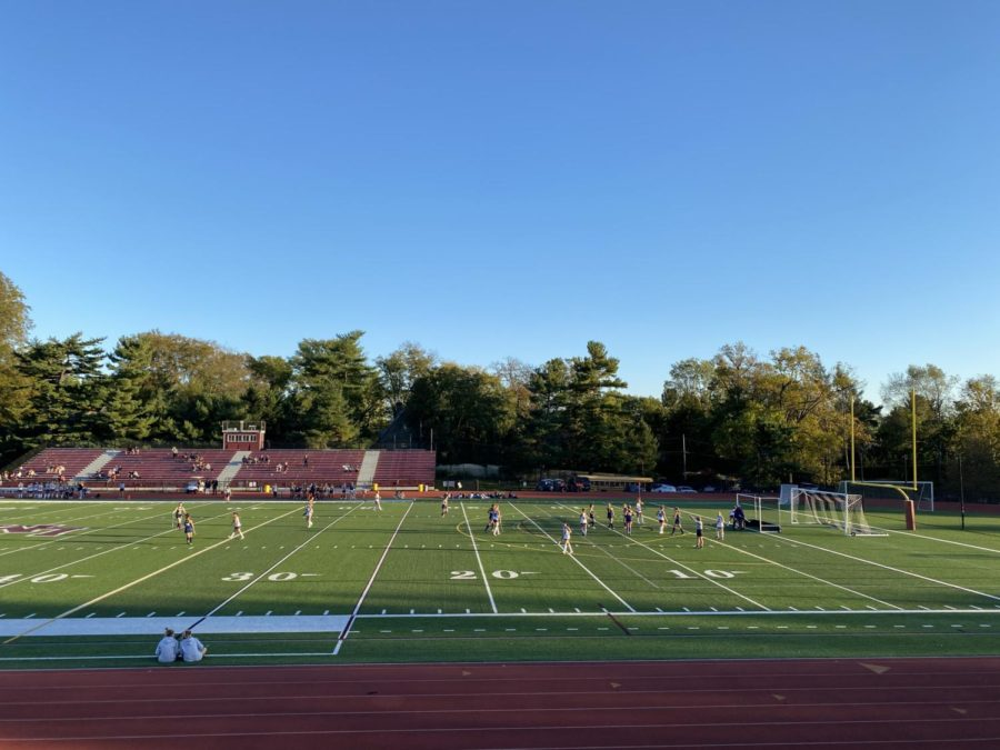 As the sun begins to set, practices at Arnold Field must wrap up due to the lack of light. | Photo Courtesy of Michelle Kelly 23
