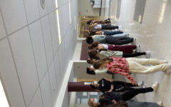 The Dance Team returned to in-person practice in the hallways | Photo courtesy of Inbal David 23